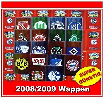 Match Attax 2008 2009 Topps Fussball Bundesliga Wappen