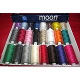 Coates LuneBobines de fil en coton 1000 fils et polyester pour machine à coudre 120s - Couleurs sombres