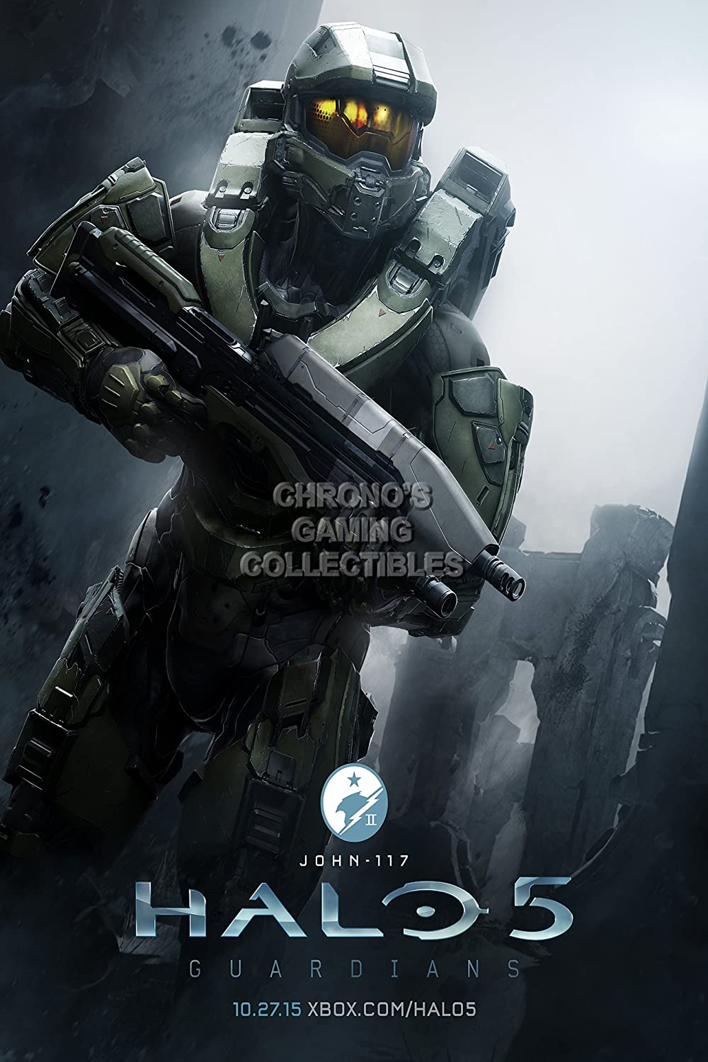 CGC enorme cartel – Halo 5 Chief Xbox 360 One – hal034, papel, 24 ...