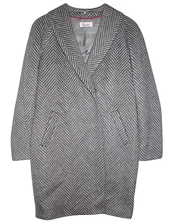 Gr36 Creme Mantel Grau Tesini Fischgrät Wollmantel Linea ywmnP8vON0