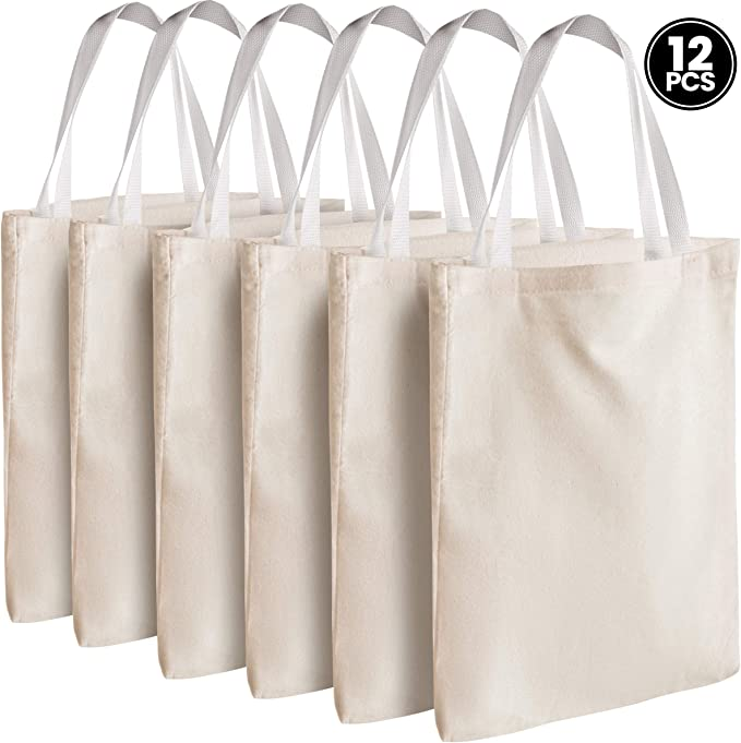 Bedwina - Bolsas de lona para bolso, 12 unidades, 33 x 33 cm, tela ...