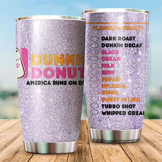 straight tumbler wrap Dunkin/' Donut 20 oz