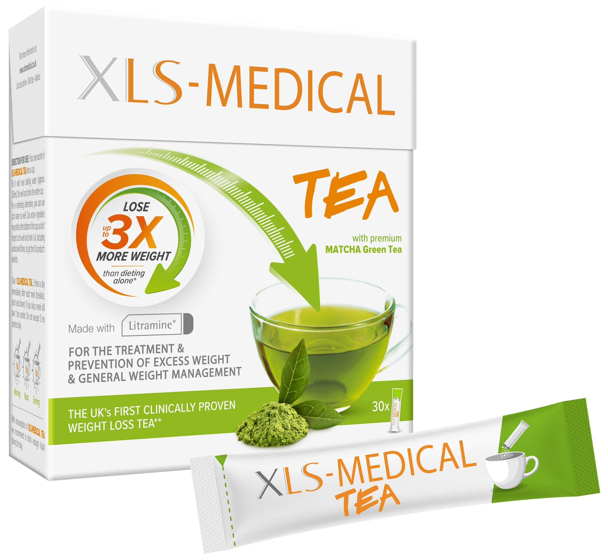 XLS-Medical Tea - Reduce Calorie Intake from Dietary Fats - 30 Sachets, 10 Day Treatment