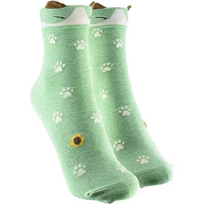 cosey - Chaussettes colorées - pattes - 33-42 - vert - en coton pour femmes et hommes - 6 paires