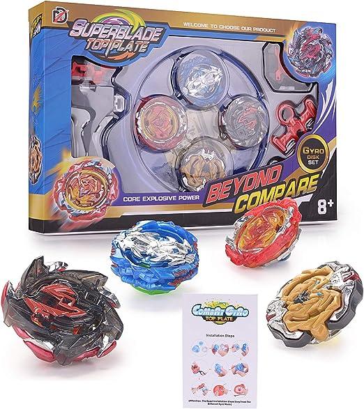 Geburtstag Ostern Weihnachten 2 x Launcher Gyro Burst Kreisel Set 4D Kampfkreisel Kreisel Modell Metall Masters Speed Kreisel Mit Beyblade Burst f/ür Kindertag 8 x Kreisel