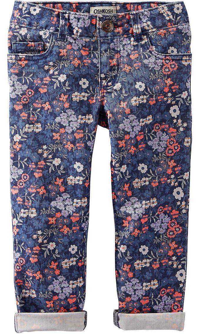 OshKosh B'gosh Girls' Floral Twill Pants (10)