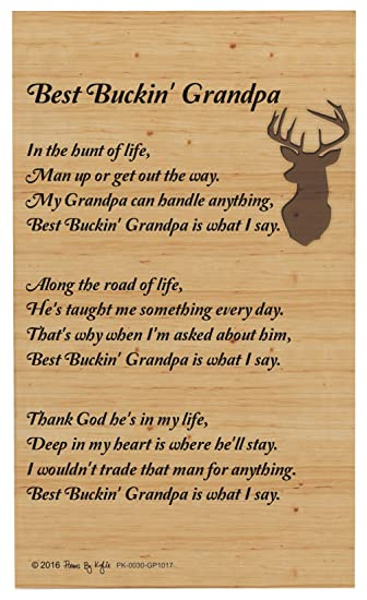 grandpa gifts for christmas best buckin grandpa poem outdoorsman decorative poetry award gift plaque glass plaque