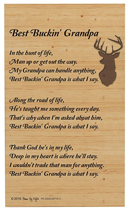 grandpa gifts for christmas best buckin grandpa poem outdoorsman decorative poetry award gift plaque glass plaque - Christmas Gifts For Outdoorsmen