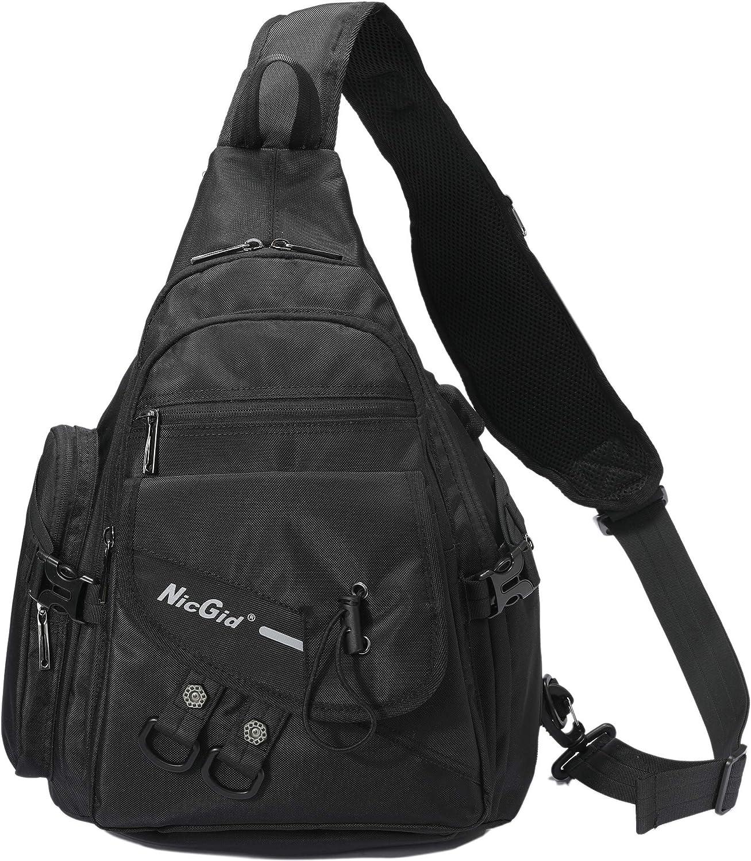 Sling Bag Backpack, Sling Shoulder Backpacks Laptops Travel Outdoors Backpack