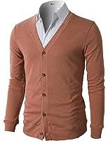 H2H Mens Casual Slim Fit Basic Designed Long Sleeve V-Neck Front Button Cardigan
