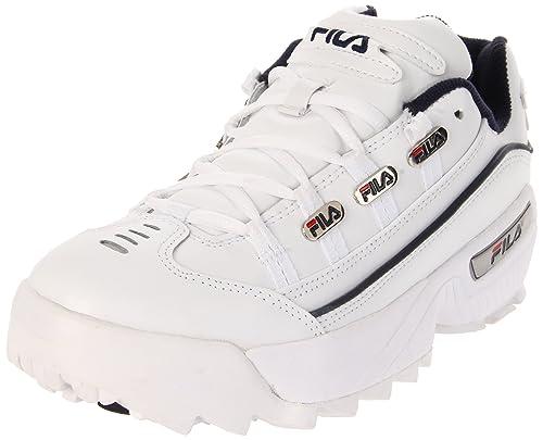 Fila Hombre Hometown Extra Cuero White Peacoat Red Entrenadores 44 EU: Amazon.es: Zapatos y complementos