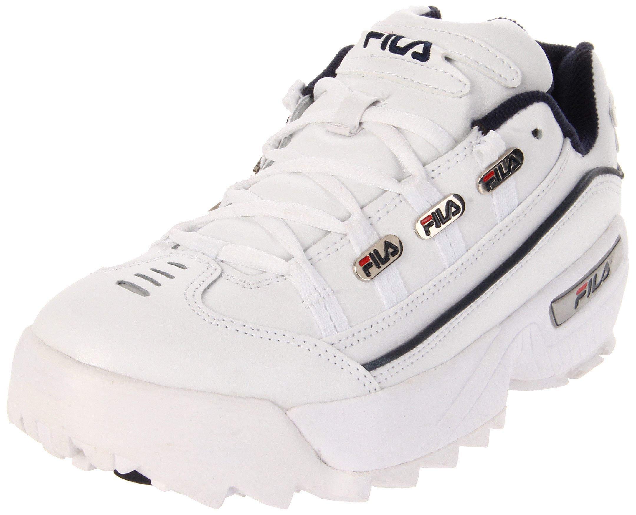 Fila Men's Hometown Extra Sneaker,White/Peacoat/Vintage Red,11.5 M US