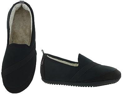 KOZiKICKS Active Slippers for Women (Small: 5.5 - 6.5, Black)