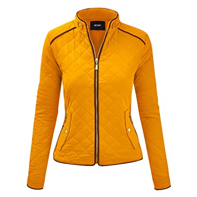 FASHION BOOMY Women's Quilted Padding Vest - Lightweight Zip Up Jacket - Regular and Plus Sizes at Women's Coats Shop