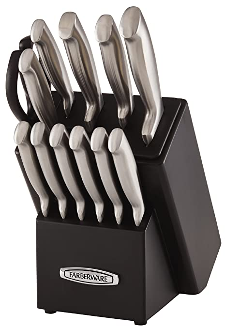 Amazon Com Farberware Self Sharpening 13 Piece Knife Block Set With