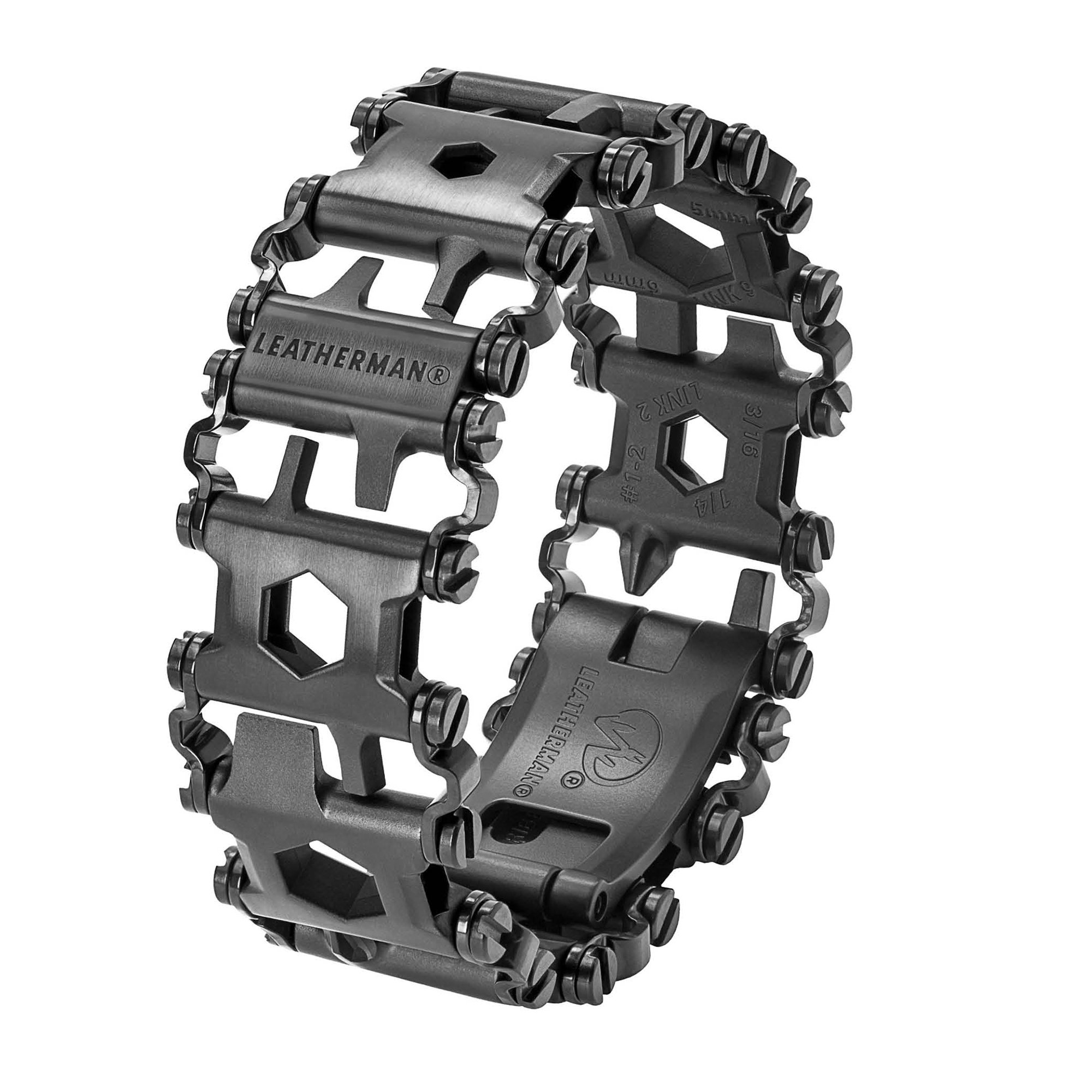 LEATHERMAN - Tread Bracelet, The Original Travel Friendly Wearable Multitool, Black (FFP)