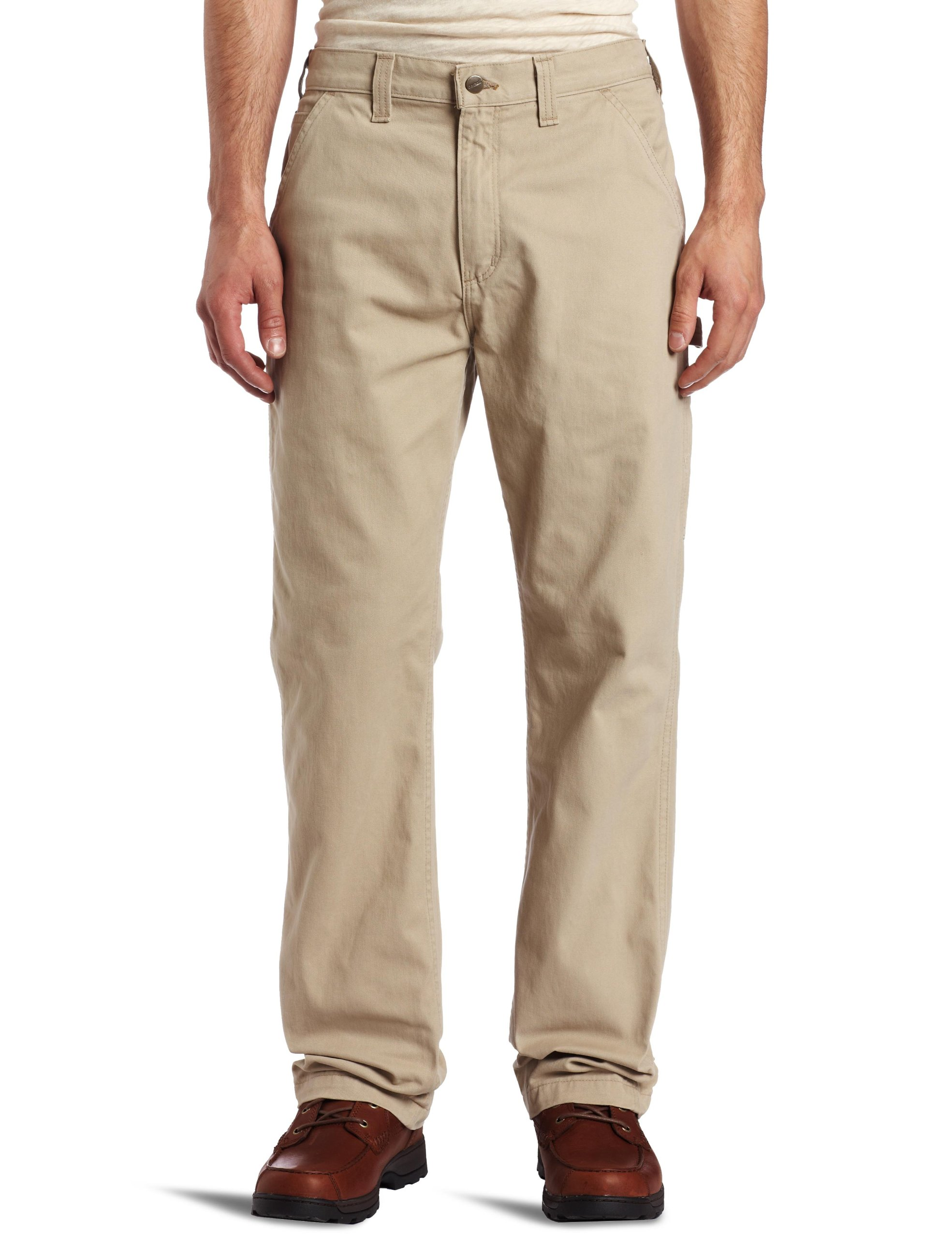Carhartt Men's Washed Twill Dungaree Relaxed Fit,Field Khaki,33 x 32