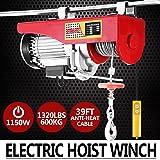 Autovictoria Polipasto Electrico Ascensor 600kg Overhead Polipasto Electrico 220v Cable Eléctrico Polipasto Garage Auto Shop(600kg)