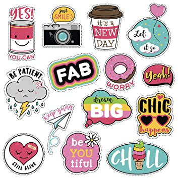 (14 Pack) Vsco Laptop Stickers for Teen Girls,Cute Girl Power Aesthetic  Stickers Pack for Hydro Flask Water Bottle Phone Travel,Cool Waterproof