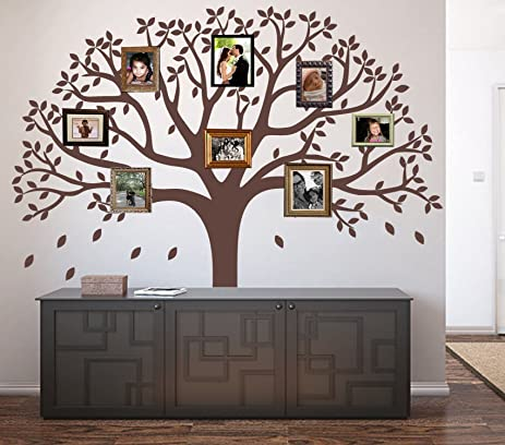 LUCKKYY Large Family Photo Tree Wall Decor Sticker Branch Like Branches On A