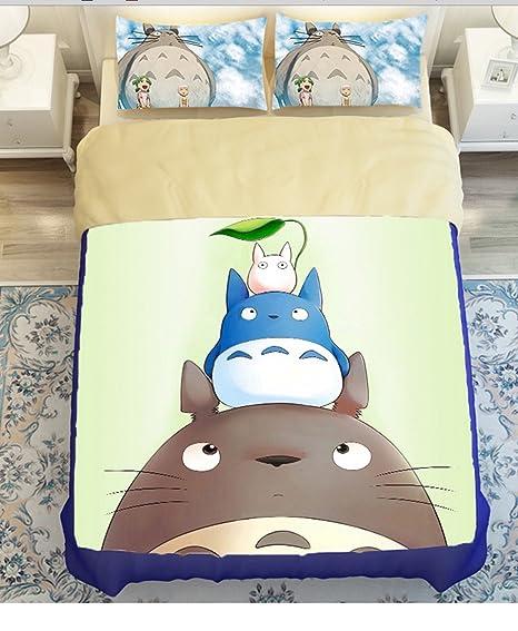 Copripiumino Totoro.Sport Do My Neighbor Totoro Series Cartoon Bedding Set Anime Duvet