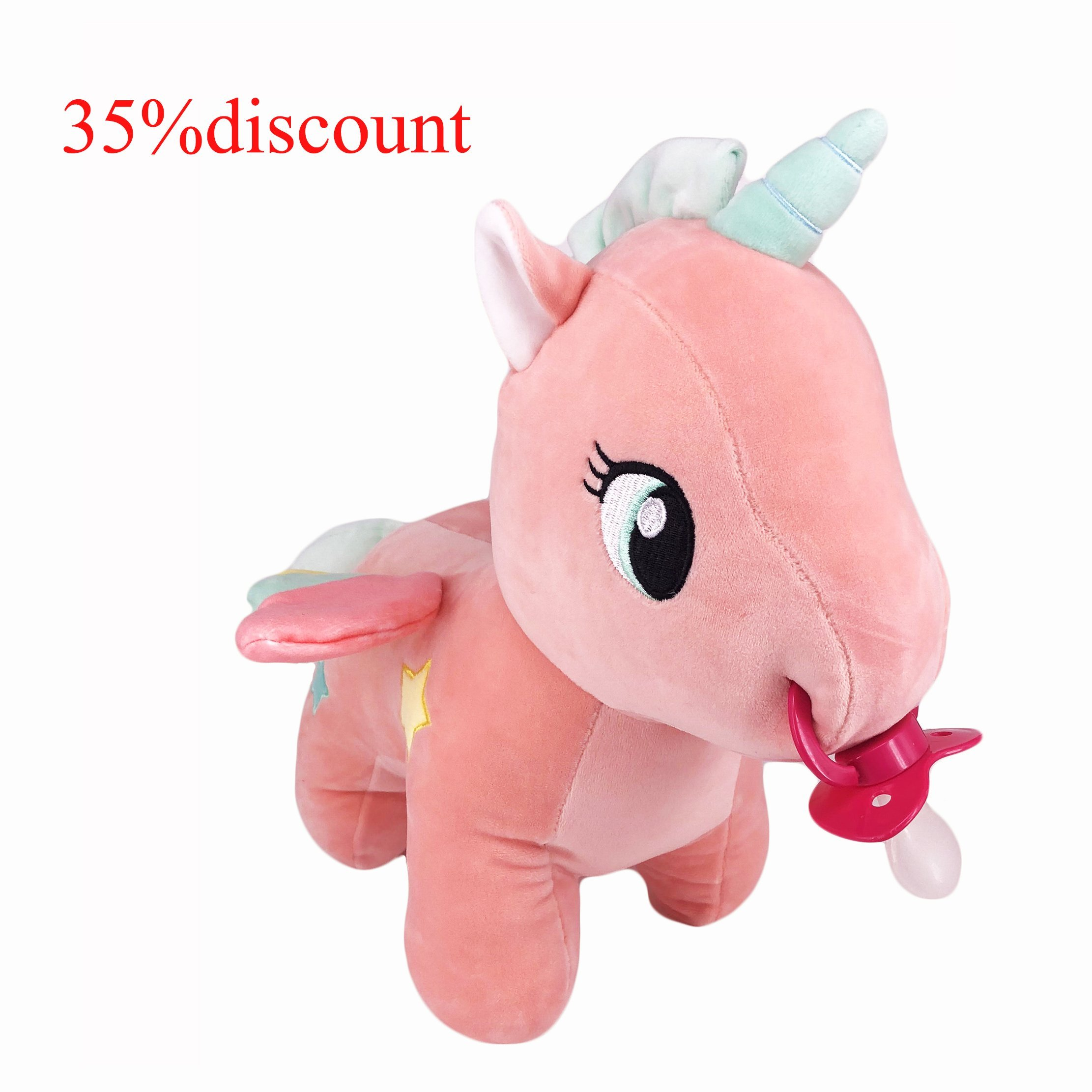 TEN@NIGHT Adult Baby Unicorn Pacifier ABDL Adult Sized Pacifier with Unicorn Doll Holder by TEN@NIGHT