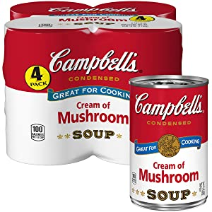 Campbell's Condensed Cream of Mushroom Soup, 10.5 Ounce, Pack of 4