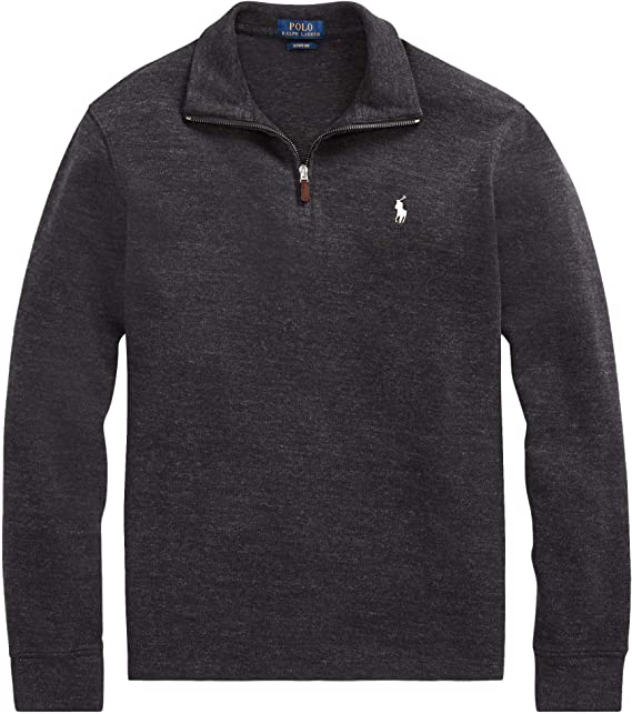 Polo Ralph Lauren Men's French Rib Knit Half Zip Pullover Sweater