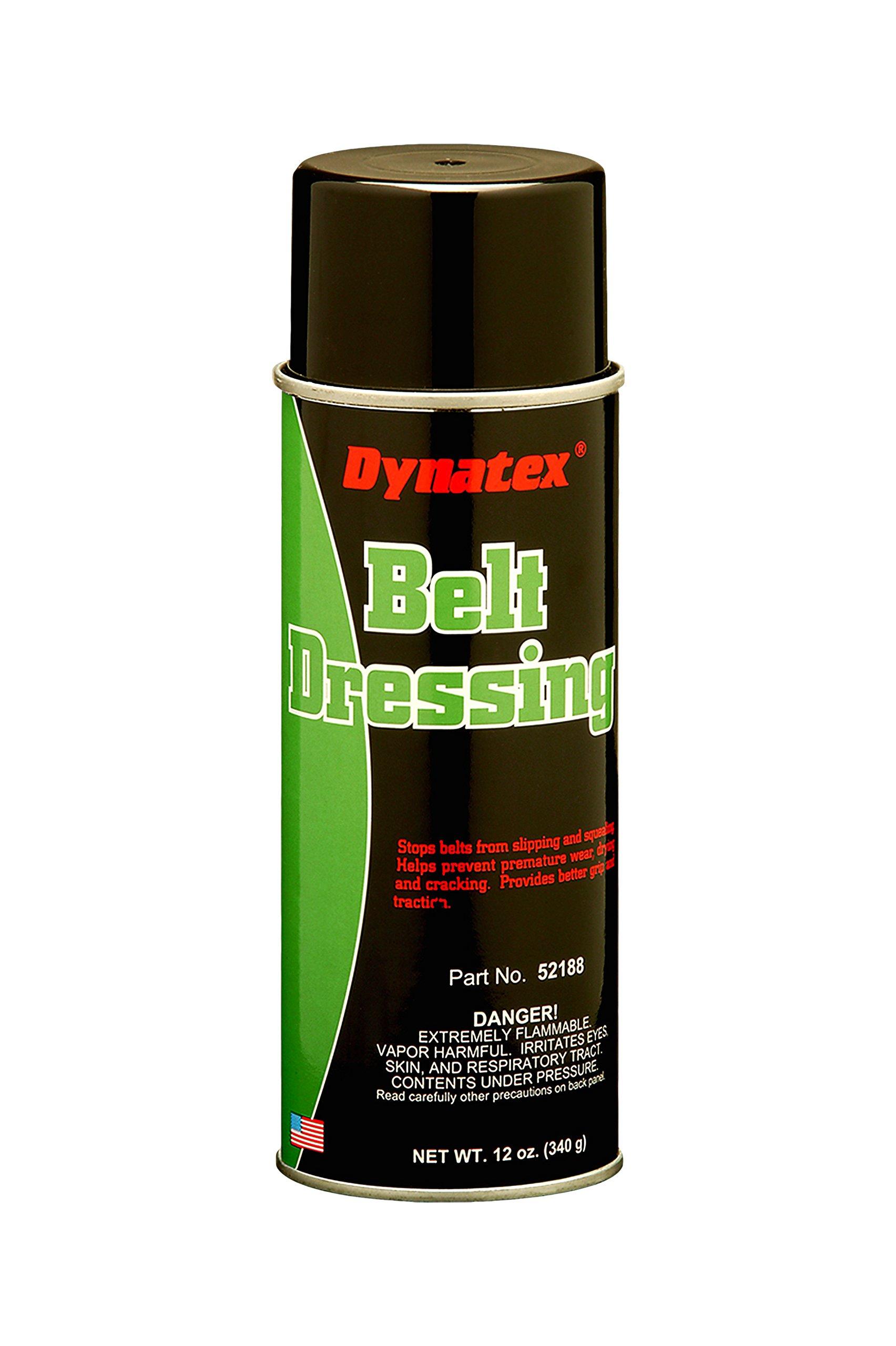 Dynatex 52188 Belt Dressing Spray, 16 oz Aerosol Can, White (Pack of 12)
