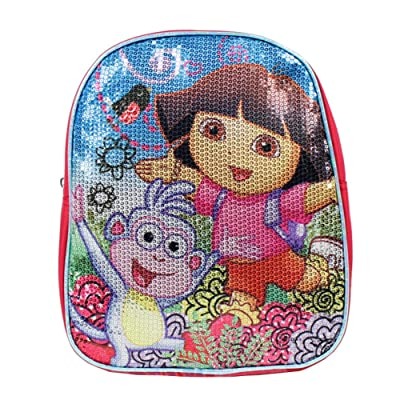 "10"" Nickelodeon Dora the Explorer and Mr.Boots Sequin Mini Toddler Backpack"