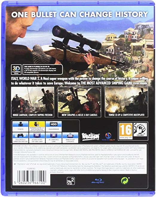 Sniper Elite 4: Italia: Amazon.es: Videojuegos