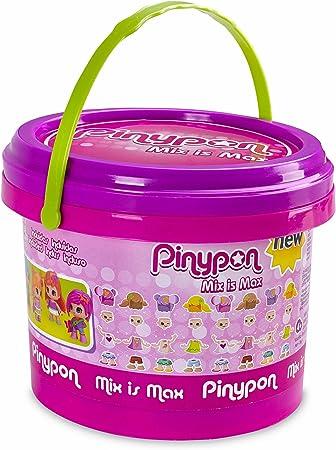 Para jugar a mezclar y crear un montón de figuras con Pinypon,Cubo con 5 diferentes figuras de Pinyp