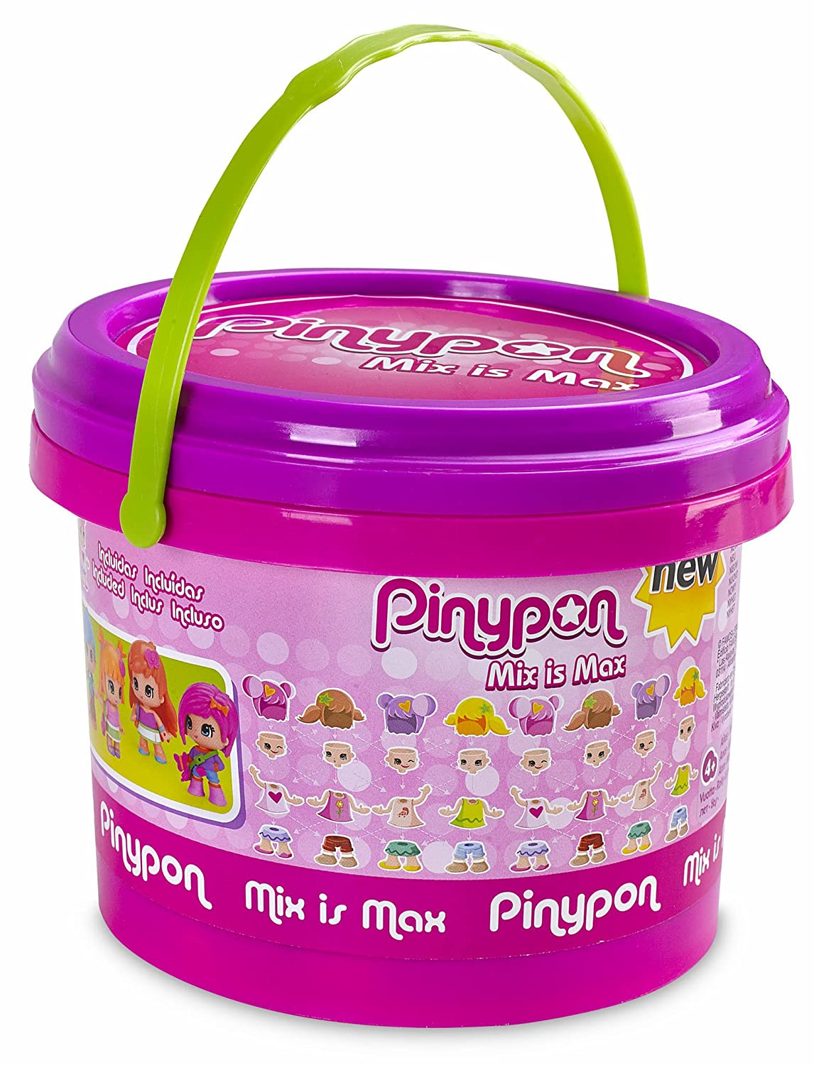 Pinypon - Cubo Mix Is MAX de 10 Figuras (Famosa 700013811): Amazon.es: Juguetes y juegos