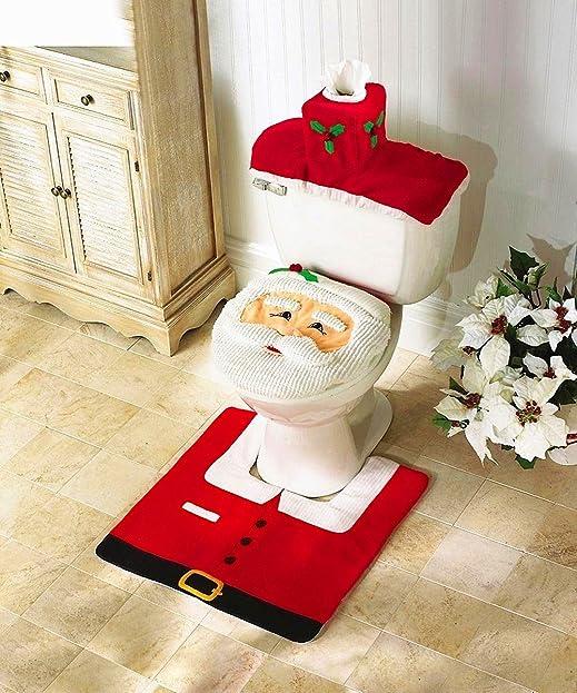 Toiletten Abdeckung Badezimmer Teppich WC-Sitze Set Weihnachten ...