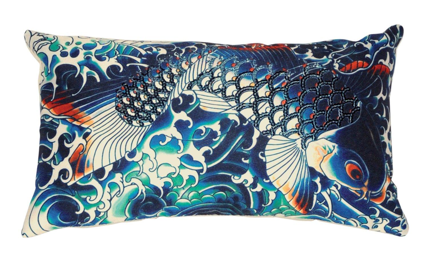 Jean Paul Gaultier - Cojín sublimación Azul: Amazon.es: Hogar