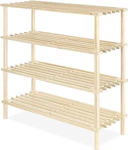 Whitmor Wood 4-Tier Shelf