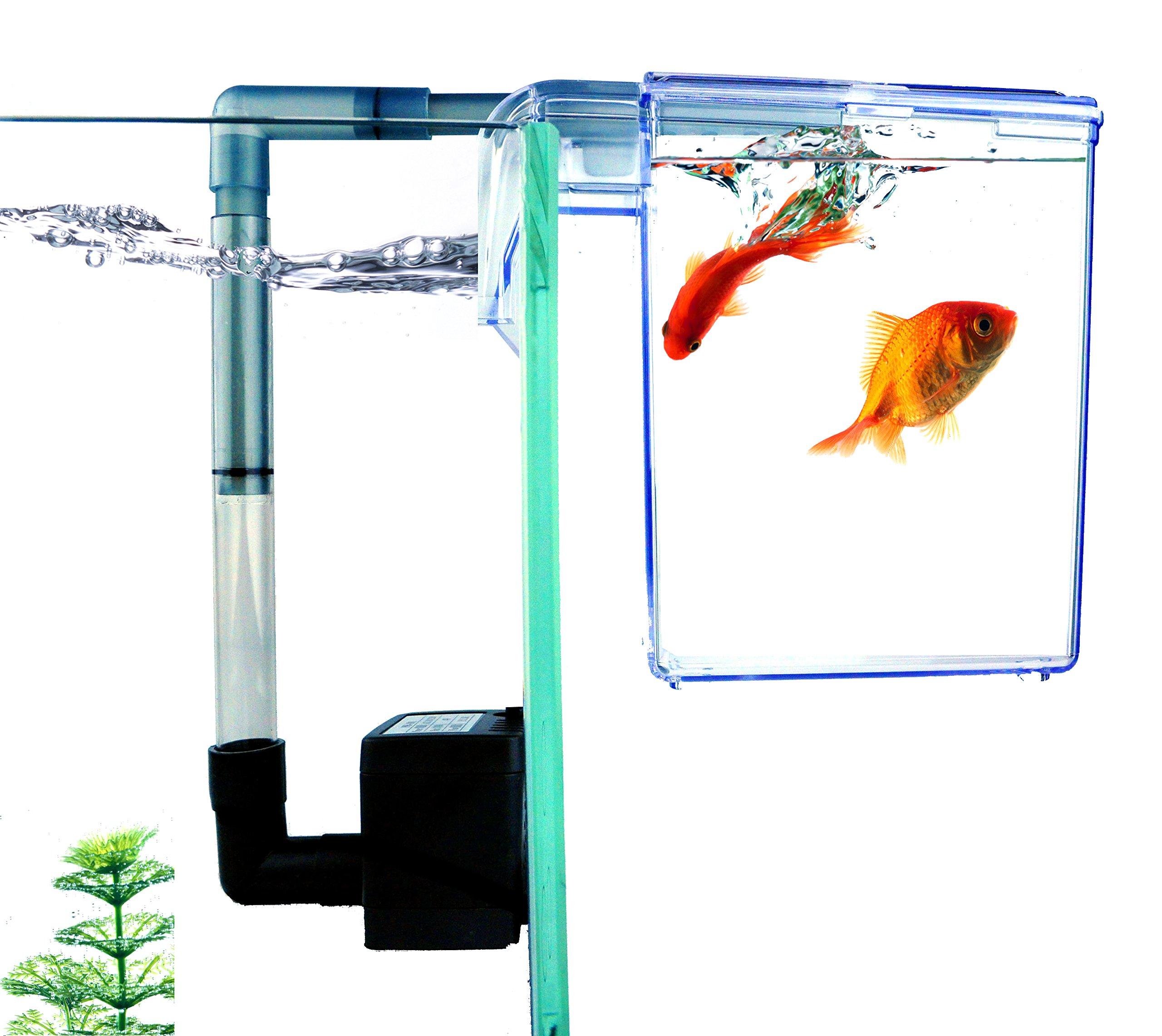 Finnex External Refugium Breeder Hang-On Box, Water Pump 1
