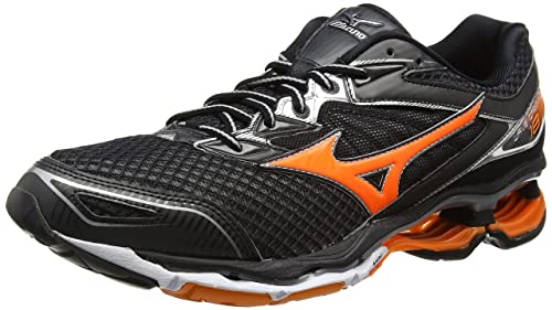 Mizuno Wave Creation 18, Zapatillas de Running para Hombre, Negro (Black/Clownfish/Silver), 43 EU: Amazon.es: Zapatos y complementos