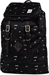 d7c67aba13378 The Society Premium Rucksack 23 Litre Black Numbers Allover