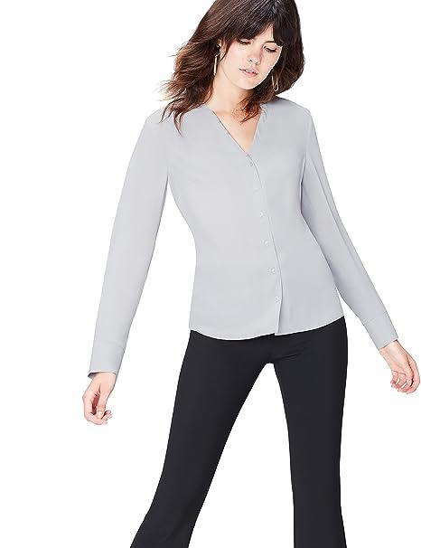 FIND Blusa para Mujer , Gris (Grau), 36 (Talla del Fabricante: