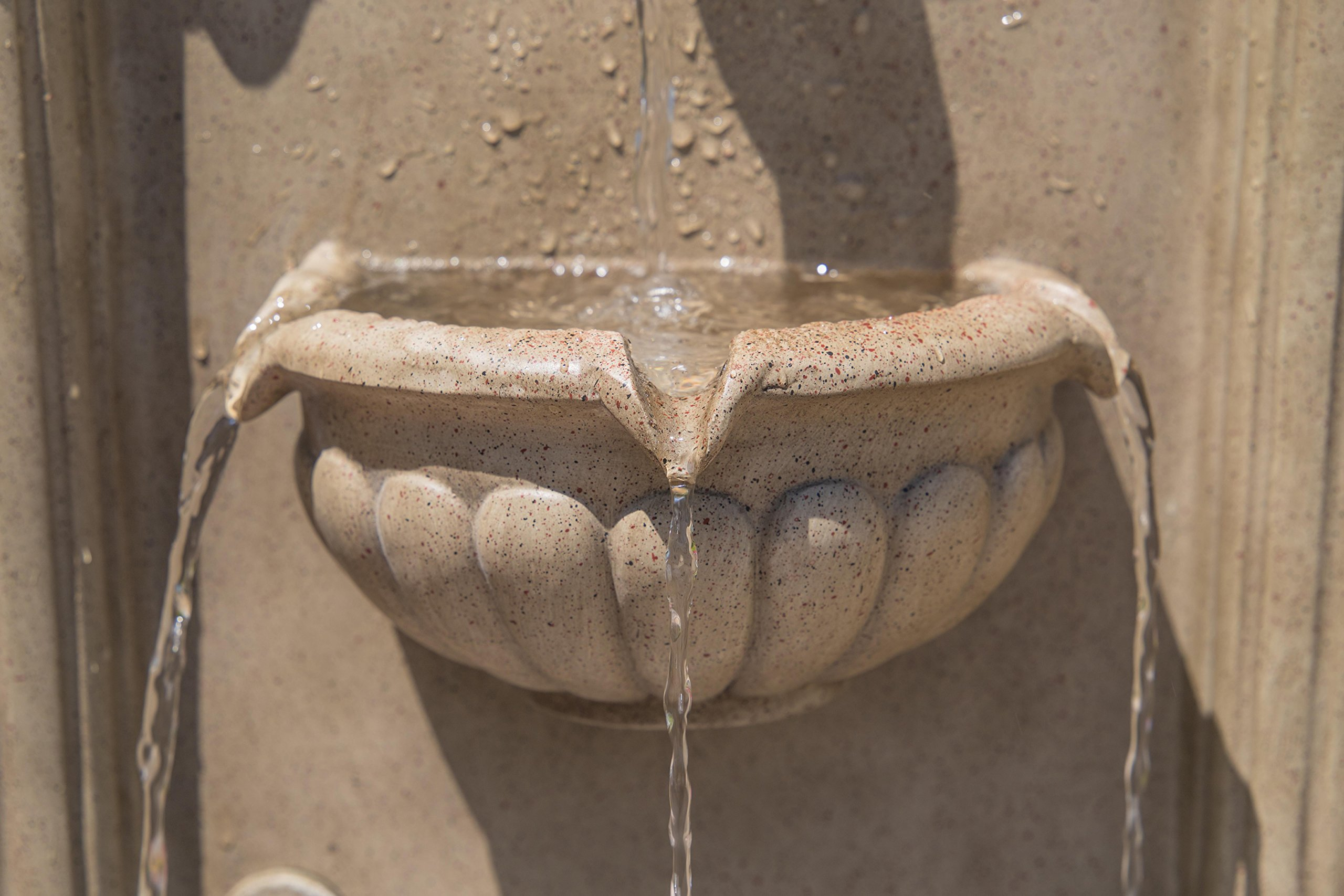 Kenroy Home 51043SNDST Royal Wall Fountain with Light, Sandstone Finish by Kenroy Home (Image #5)