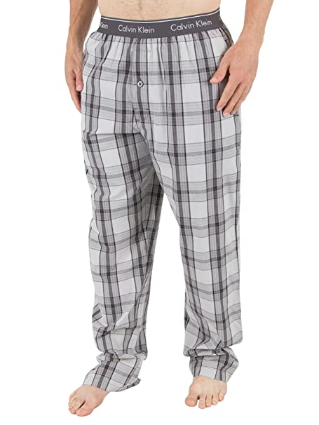 Calvin Klein Hombre Logo pijama Bottoms, Negro, X-Large