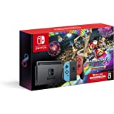 Nintendo Switch™ w/ Neon Blue & Neon Red Joy-Con™ + Mario Kart™ 8 Deluxe (Full Game Download) + 3 Month Nintendo Switch…
