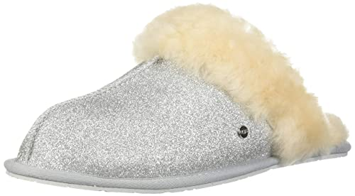 42b26f6c45d UGG - Scuffette II Sparkle 1100177 - Silver: Amazon.co.uk: Shoes & Bags