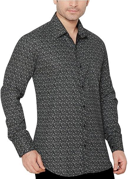13836d2aedf True United Black Printed Shirt for Men  Amazon.in  Clothing ...