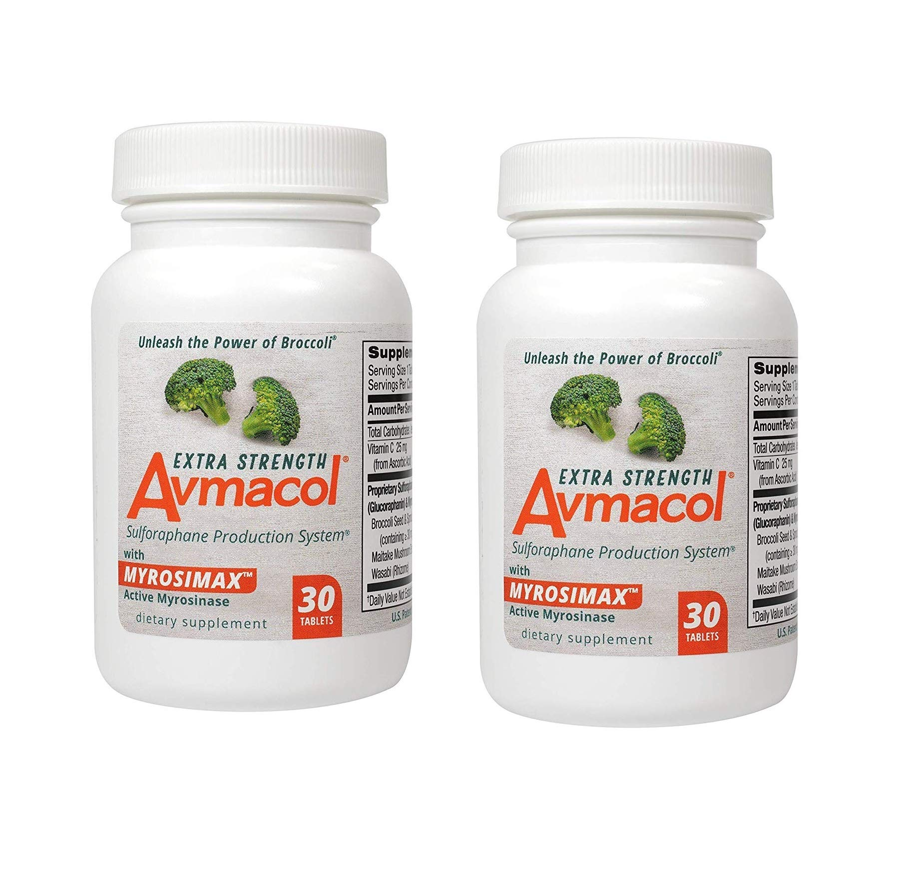 Avmacol Extra Strength Sulforaphane Production System for Immune Support, 60 Tablets