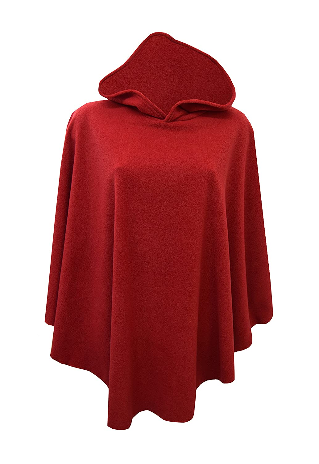 Hkclothings New Ladies Women Winter Casual Fleece Pull Over Hooded Cape Poncho Plus Size