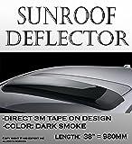 "ICBEAMER 38"" Moon Sun Roof Guard Block Wind Black"