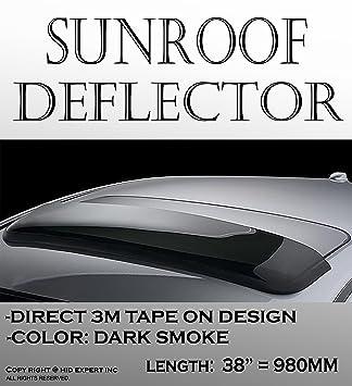 [Require Measure] One Pc JDM 38u0026quot; 980mm Moon Sun Roof Guard Sunroof  Black