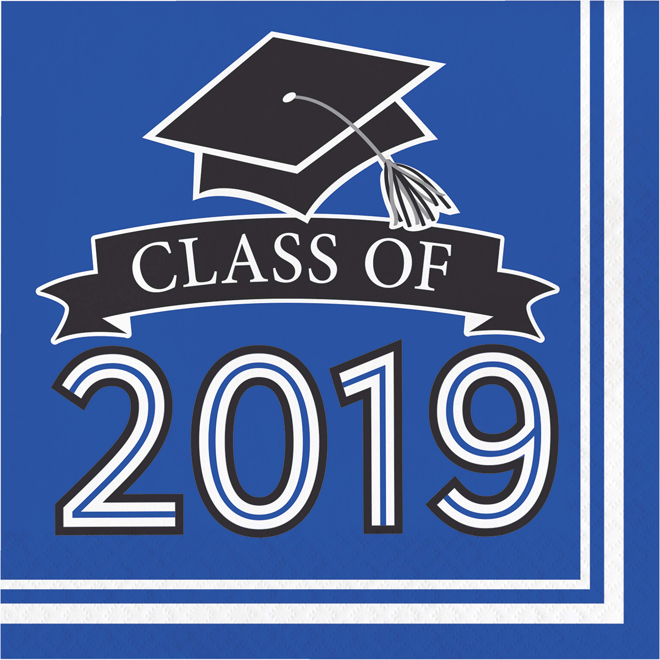 Creative Converting 335415case Blue Class Of 2019 Napkins 6.5'',